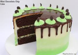 mint chocolate chip cake my cake
