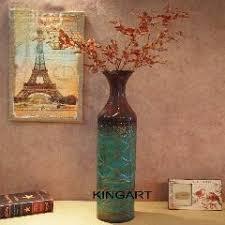 Flower Vase Decoration Home Kingart Metal Large Floor Vase Vintage Living Room Home Decor