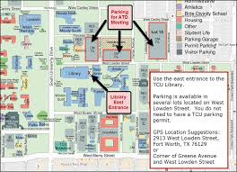 tcu parking map atd fort worth mid cities november chapter meeting