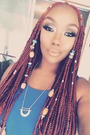 nubian hair long single plaits with shaved hair on sides braids with beads inspiration essence com