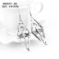 skyrim earrings hot tes the elder scrolls v skyrim earrings for fans gift