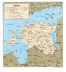 Map Of Nd Estonia Maps Printable Maps Of Estonia For Download
