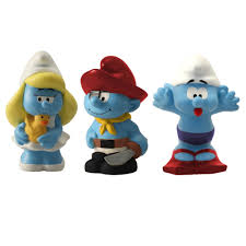 the smurfs baby toiletry bag with 3 figures plastoy the smurfs 80542 2017
