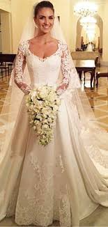 chapel wedding dresses white lace mermaid chapel wedding dress with purple flower