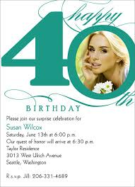 40th birthday invitations birthday invitations