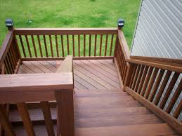 deck stair railing construction deck stair railing placement and