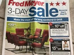 Fred Meyer Patio Furniture Sale Fred Meyer 3 Day Sale 5 25 U2013 5 27