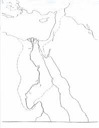 Nile River On Map Ancient Egypt Map
