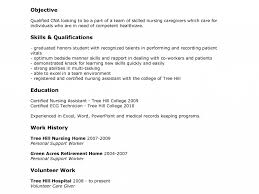 Sample Resume Certified Nursing Assistant Sample Cna Resume Resume Samples And Resume Help