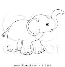 trunk clipart small elephant pencil and in color trunk clipart