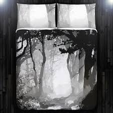 Camo Duvet Covers Gray Camouflage Forest Tree Duvet Cover Bedding Queen Size