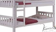 Barcelona Bunk Bed Verona White Wash Pine Bunk Bed Small Single 2ft6 Childrens