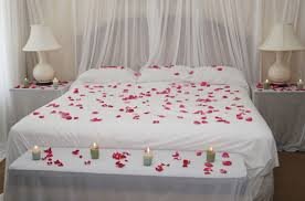 Romantic Bedroom Ideas For Valentines Day Romantic Decoration In Private House For A Pair Of Lovers On