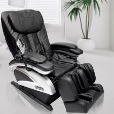 reclining full body massage chair with arm and foot massagers