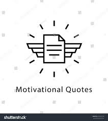quote document icon motivational quotes vector line icon stock vector 597485789