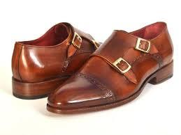 light brown monk strap shoes paul parkman men s cap toe double monkstraps camel light brown