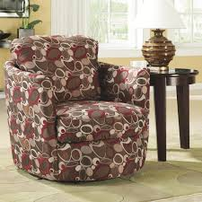 Swivel Upholstered Chairs Living Room Coaster Company Printed Swivel Barrel Chair Free Shipping Today