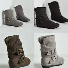 womens gray boots on sale womens faux suede boots ebay