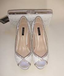 wedding shoes quiz quiz size 4 37 white lace satin diamante bridal shoes matching bag