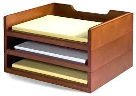 desk organizer tray furniture stacking wood desk organizers 3