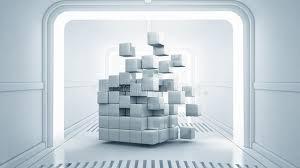 chambre virtuelle cube dans la chambre virtuelle image stock image du neuf couloir