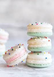 cake batter macarons cake batter cake and macarons