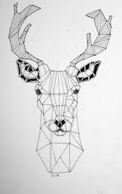 drawn buck geometric pencil and in color drawn buck geometric