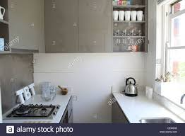 Small Galley Kitchen Apartment In Sydney Small Galley Kitchen With White Stone Work