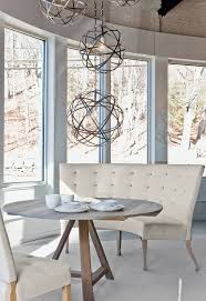 Banquette Seating Dining Room by Round Dining Room Tables And Curves Sofa Dining Room Dining