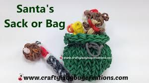 rainbow loom thanksgiving charms rainbow loom christmas santa sack or bag charm how to make loom