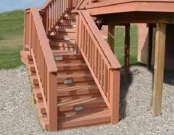 Deck Stairs Design Ideas This Deck Stair Railing Was Made Using Great Skill And Modular
