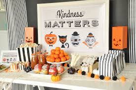 kindness matters a halloween trick or cans party