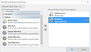 azure cloud service project template for python microsoft docs