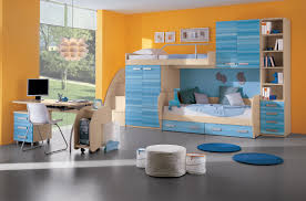 color designs for bedrooms with stylish single bed with blue and