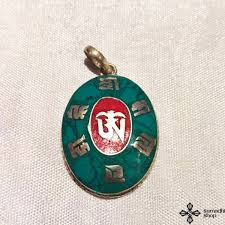 tibetan necklace images Tibetan necklace pendant with buddhist symbols samadhi tibetan jpg