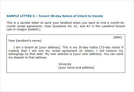 letter of intent to vacate 7 download free documents in pdf word