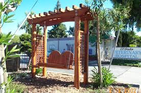 exteriors excellent wooden swing pergola design for enjoyable