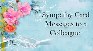 sympathy card sympathy card message colleague jpg