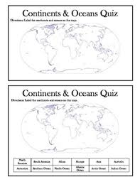 continents and oceans quiz worksheet worksheets releaseboard