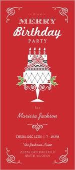 merry birthday invitation birthday