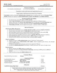 administrative assistant resume bio example