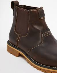 timberland grantly chelsea boots in brown for men lyst