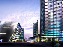 Building Exterior by Tall Building With Glass Exterior In Town 3d Model Max