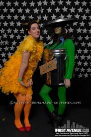 Big Bird Halloween Costumes Coolest Oscar Grouch Big Bird Couple Halloween Costumes