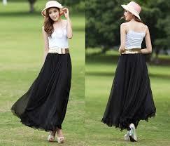 maxi skirt women s graceful dress chiffon maxi skirt at women s