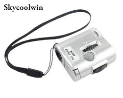pocket magnifier with light brand new mini lens 60x pocket magnifier microscope with led light