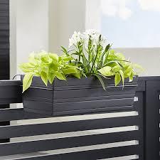 tidore deck rail planter crate and barrel