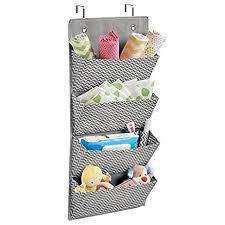 Over Door Closet Organizer - amazon com mdesign chevron wall mount over door fabric closet