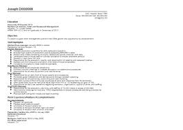 Resume Sample For Management Position by Hotel And Restaurant Management Resume Sample Quintessential