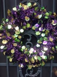 Purple Gold Christmas Decorations All Dolled Up In Purple Green And Gold Mardi Gras Decor In New